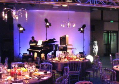 Sonorisation et éclairage scène piano